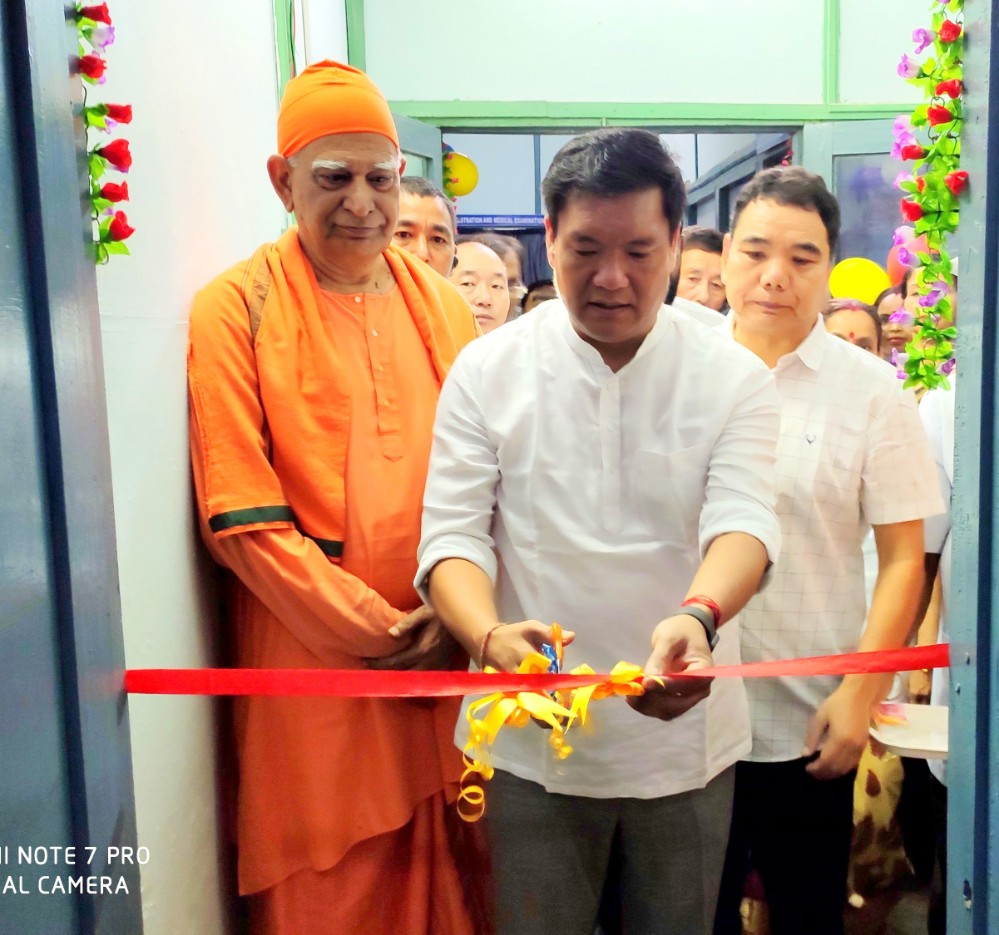Inauguration of  Renovated Obstretics Ward and First Ever Blood Component Seperation Unit in Arunachal Pradesh  by  Shri Pema Khandu, Chief Minister of Arunachal Pradesh  in Presence of   Shri Alo Libang, Hon'ble Minister Health & Family Welfare, A.P.  &  Srimat Swami Vishwatmananda ji Maharaj  Adhy